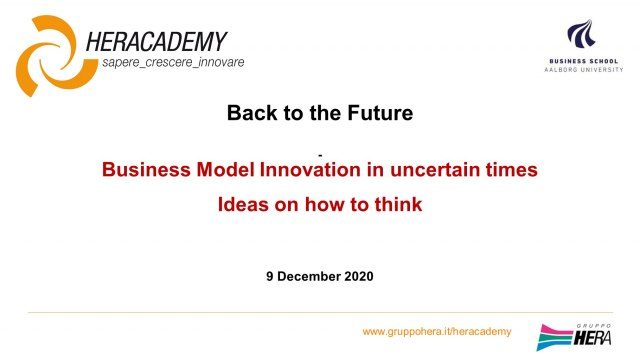 Business Model Innovation in uncertain times
